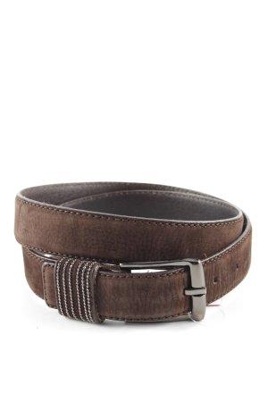 René Lezard Cinturón de cuero marrón estilo «business»