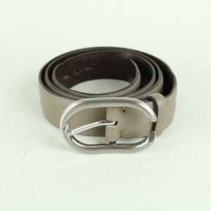 René Lezard Cinturón de cuero marrón grisáceo-gris oscuro Cuero