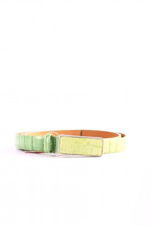 René Lezard Faux Leather Belt green-primrose allover print casual look
