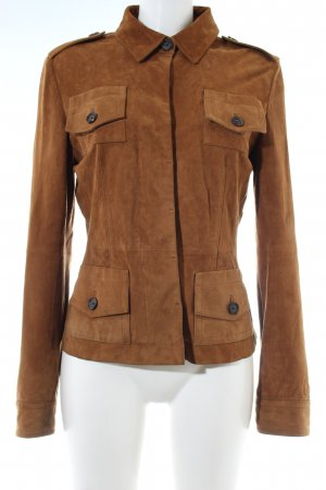 René Lezard Leather Jacket brown casual look
