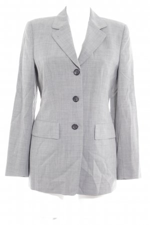 René Lezard Long-Blazer grau meliert Business-Look
