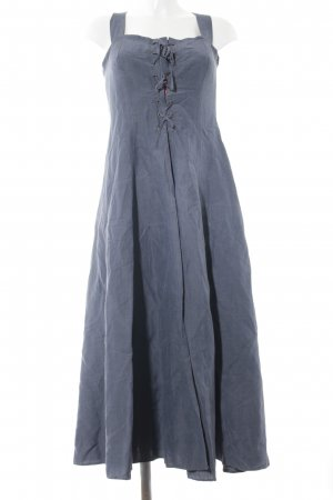 René Lezard Midi Dress steel blue street-fashion look