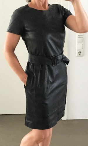 René Lezard Leather Dress black leather