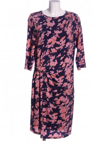 René Lezard Minikleid blau-pink Blumenmuster Casual-Look