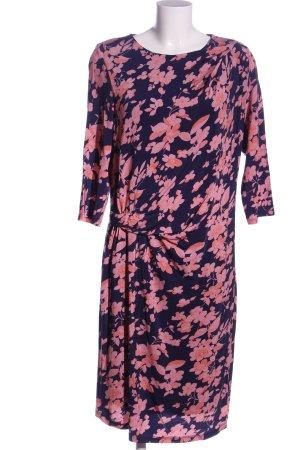 René Lezard Robe courte bleu-rose motif de fleur style décontracté