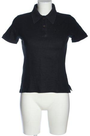 René Lezard Polo shirt zwart casual uitstraling