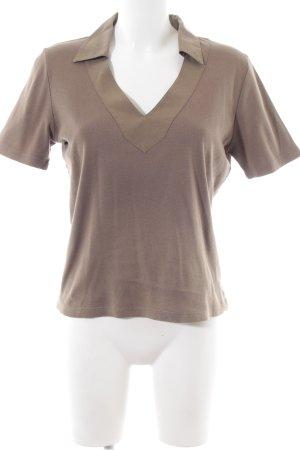 René Lezard Polo-Shirt braun Casual-Look