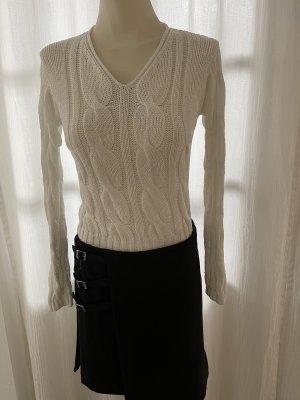 René Lezard V-Neck Sweater white
