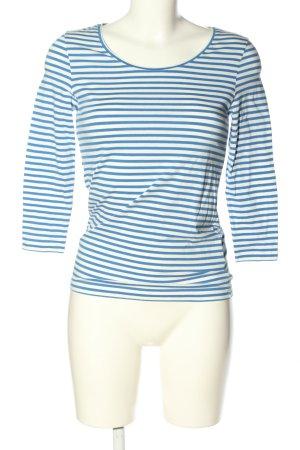 René Lezard Ringelshirt weiß-blau Streifenmuster Casual-Look