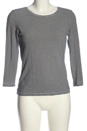 René Lezard Ringelshirt weiß-schwarz Streifenmuster Casual-Look