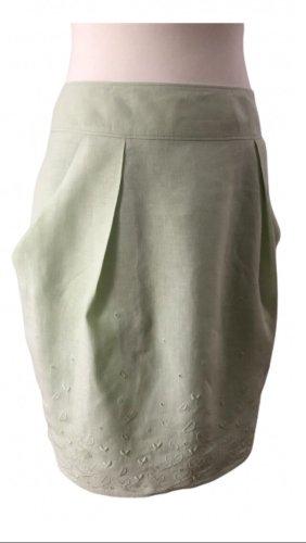 René Lezard Tulip Skirt lime-green-mint