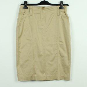 René Lezard Pencil Skirt beige cotton