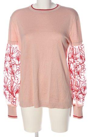 René Lezard Crewneck Sweater pink-red casual look