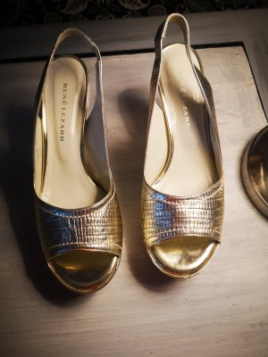 René Lezard Platform Pumps gold-colored