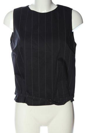 René Lezard Schlupf-Bluse schwarz-weiß Streifenmuster Casual-Look