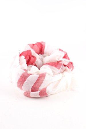 René Lezard Zomersjaal roze-wit gestreept patroon casual uitstraling