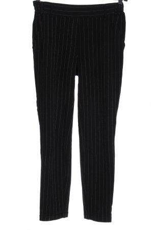 René Lezard Jersey Pants black-light grey striped pattern business style