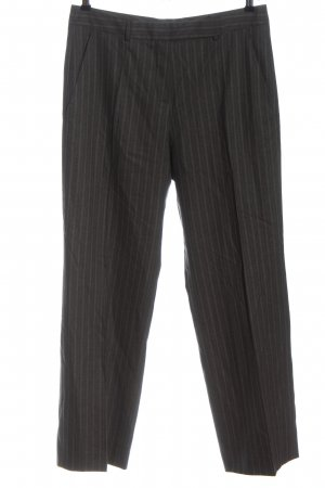 René Lezard Jersey Pants light grey-brown striped pattern business style