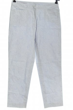 René Lezard Jersey Pants blue abstract pattern casual look