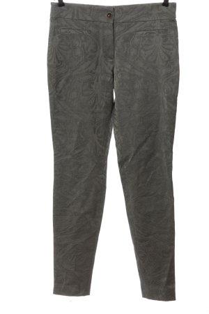René Lezard Pantalon en jersey gris clair motif abstrait style décontracté