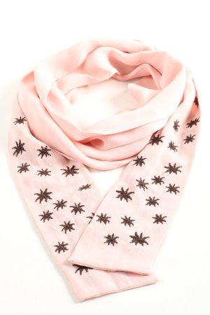 René Lezard Stola roze-brons volledige print casual uitstraling