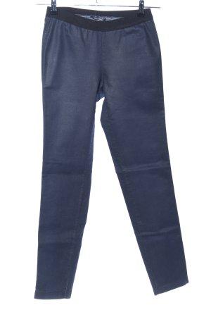 René Lezard Stretchhose blau-schwarz Casual-Look
