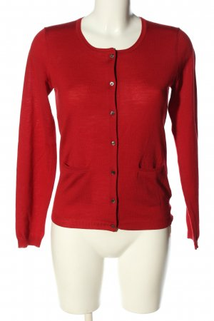 René Lezard Strick Cardigan rot Casual-Look