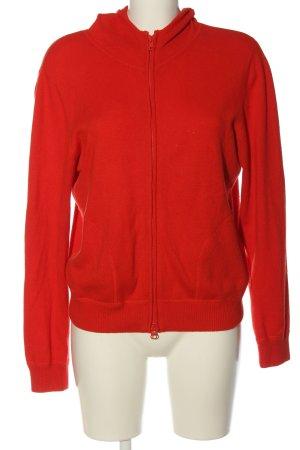 René Lezard Giacca in maglia rosso stile casual