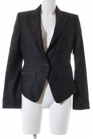 René Lezard Sweatblazer schwarz-grau meliert Business-Look