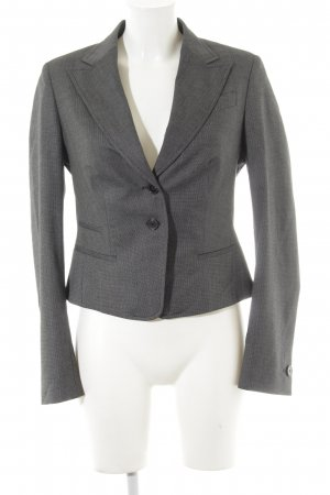 René Lezard Sweatblazer schwarz-weiß abstraktes Muster Business-Look