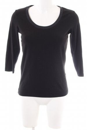 René Lezard Sweatshirt schwarz Casual-Look