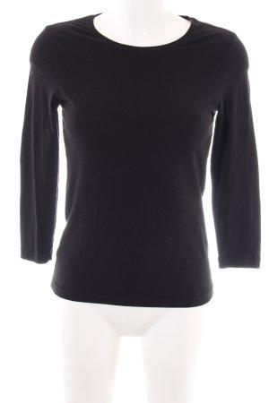 René Lezard Sweatshirt schwarz Casual-Look