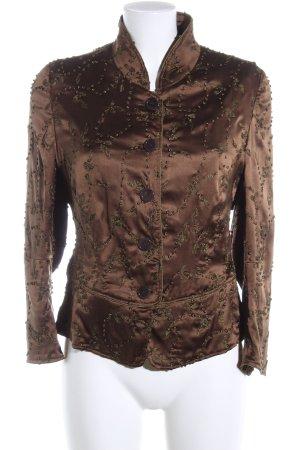 René Lezard Tweed blazer bruin wetlook