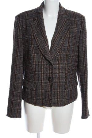 René Lezard Tweed Blazer brown-light grey check pattern business style
