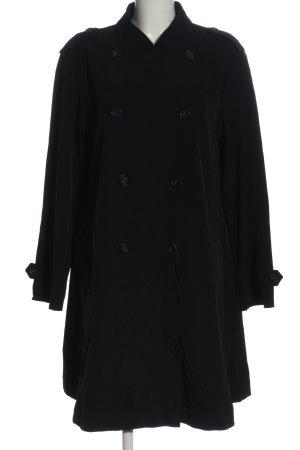 René Lezard Between-Seasons-Coat black striped pattern casual look