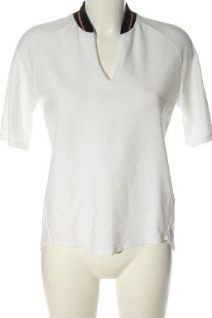 René Lezard T-shirt col en V blanc style décontracté