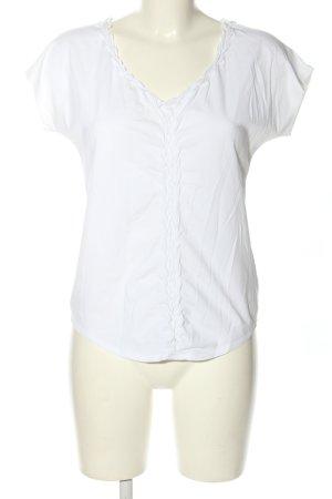 René Lezard V-Ausschnitt-Shirt weiß Casual-Look