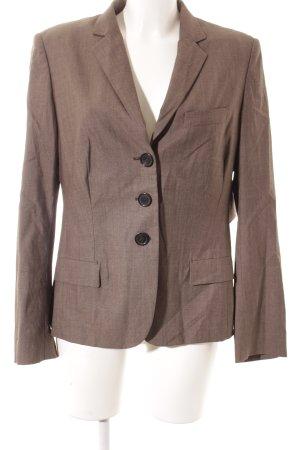 René Lezard Wollen blazer grijs-bruin gestippeld zakelijke stijl