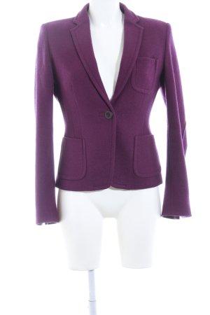 René Lezard Woll-Blazer lila Business-Look