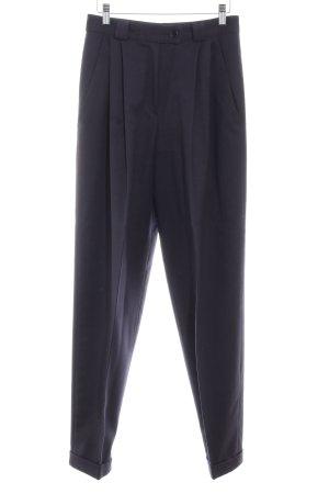 René Lezard Pantalon en laine bleu foncé style d'affaires