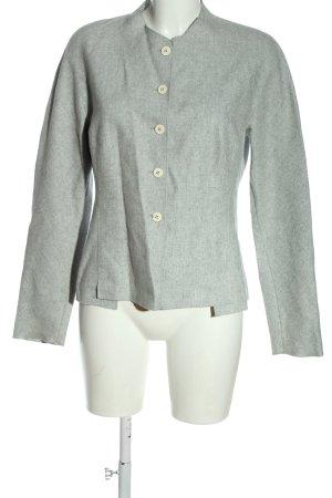 René Lezard Veste en laine gris clair moucheté style décontracté