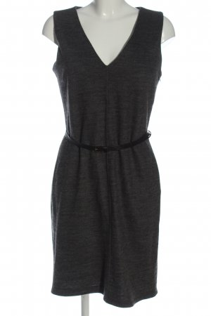René Lezard Woolen Dress light grey flecked casual look