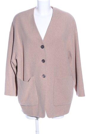 René Lezard Abrigo de lana rosa look casual