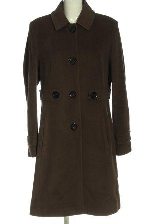 René Lezard Wełniany płaszcz brązowy W stylu casual