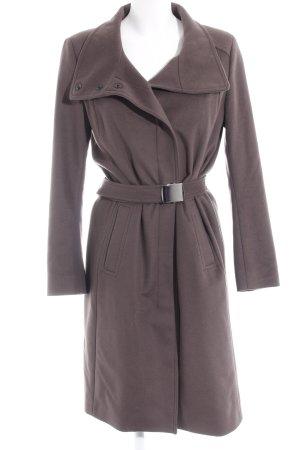 René Lezard Cappotto in lana marrone scuro stile classico