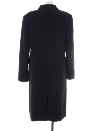 René Lezard Abrigo de lana negro elegante