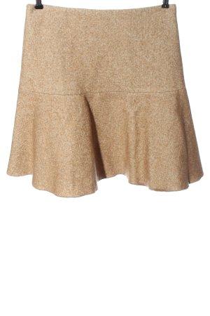 René Lezard Wool Skirt cream flecked casual look