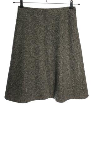René Lezard Falda de lana gris claro moteado look casual