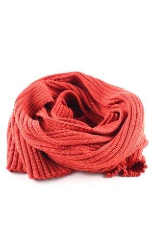 René Lezard Woolen Scarf light orange cable stitch business style