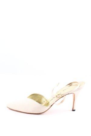rene mancini High Heel Sandaletten wollweiß Business-Look